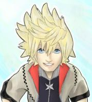Roxas smile +CG+ by TopHat-And-Tentacles