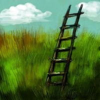 a ladder by sangwinowy