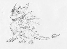 Spyro the Dragon by vonPipkin