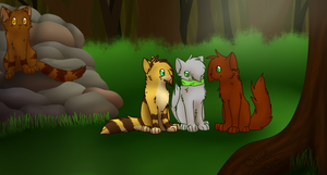 ForestClan Camp by ghost--scarves