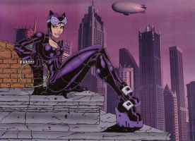 Catwoman Coloured by Fhiacha