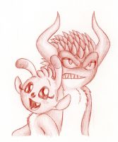 Devil and Sweetpea by Mickeymonster