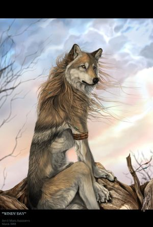 windy werewolf art fur hair