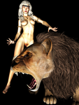 Laurie and lion v2 by UnknownSingularity