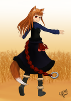 Holo the wolf by ozwi