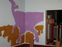 Dinosaur Mural WP 5 by gsilverfish