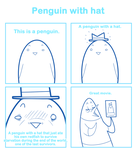 Penguin with hat by SmokyJack