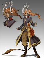 Character Design - Faun Pirate by VanchaMarl