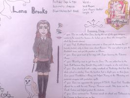 Lena Brooks character sheet by MeeShee77