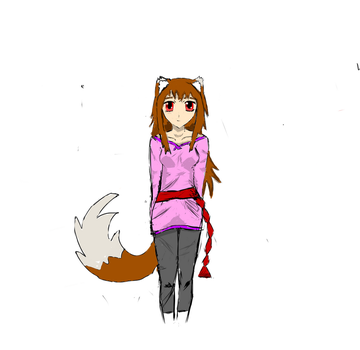 Spice and Wolf Holo Fanart by Kat515
