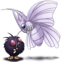 Venonat and evo by AFrozenHeart2