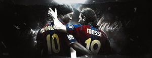 Ronaldinho and Messi by xIced