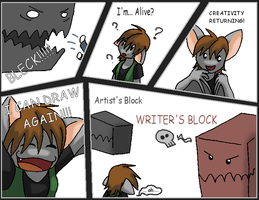 Artists Block-- Page Four by xAllyCat