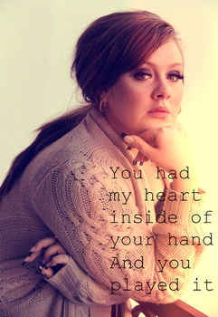 Adele - Rolling In The Deep (Quote) by LeonardoMatheus