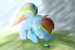 {QUICK SKETCH} Dashie and Tank by LlamasWithKatanas