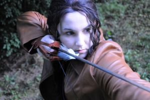 Katniss Everdeen - Aim true by moonflower-lights