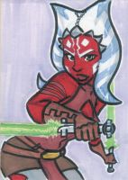 Sketch Card: Ahsoka Tano by LordSantiago
