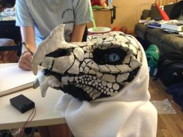 Sculptering Update! - Frost Dragon Mask by BlueEyes9