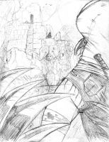 Ruined Ancient Place Sketch 1 by ZhaxRa