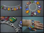 Legend of Zelda Seed Bead Charm Bracelet 2 by Pixelosis