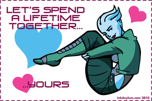 Asari Valentine by outlawink