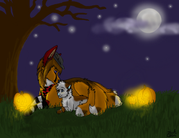 :GA:Romantic Halloween lights by SpiritedStar