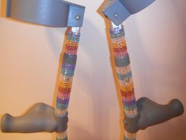 Rainbow Sparkle Crutches 2 by Amazinadrielle