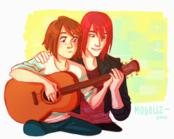 It's not a date, it's only guitar lessons by Mogoliz