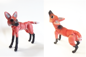 Maned Wolf BJD 02 by vonBorowsky