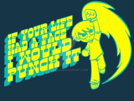 Scott Pilgrim T-shirt Design by sajcfan