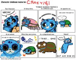 Character Challenge Meeeeeme by kinkei - TURTLECAT by Pin-eye