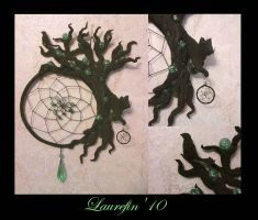 Black tree - dreamcatcher by Laurefin-Estelinion