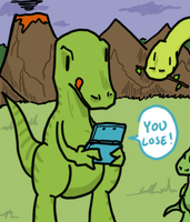 Coolest dino on the block by Graveluck