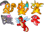 Pokemon and Neopets by eevee1