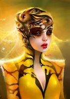 golden dragonfly by thuyngan