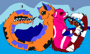 Free Adopts - Tailmouth Couple - Adopted by Feralx1