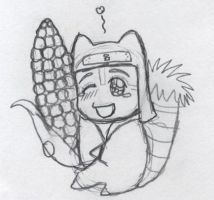 Kankurou with Corn by narutofan11112
