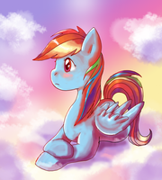 Pensive Rainbow Dash by lotothetrickster