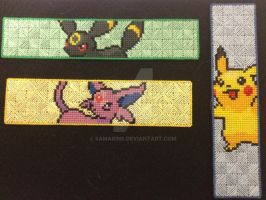 Pokemon plastic canvas bookmarks by samarin6