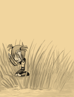 Girl in Long Grass by jagged-snail