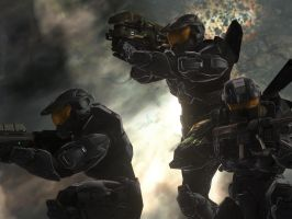 Halo 3 - Teamwork by pizzagrenade