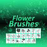 +Flower Brushes by Somethingreat