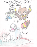 Two Chompin' Sharks by Ichi-CooCoo