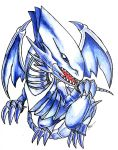 Blue Eyes White Dragon by crazytreasurestudio