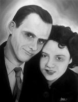 Black And Grey Couple Canvas by RavenMedia