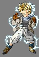 Trunks GT SSJ2 by theothersmen