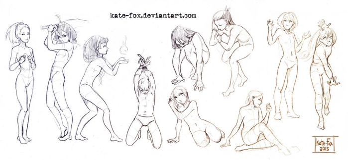 Pose study 19 by Kate-FoX
