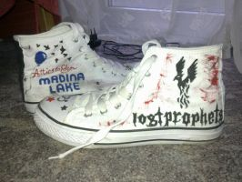 Self-Designed Shoes-Lostprophets and Madina Lake by SnatchMind