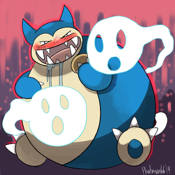 Commission Snorlax used Curse by Phatmon