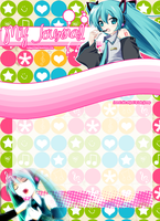 journal skin miku by LadyGloomy